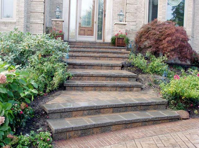 brick paver stairs in rochester hills mi domenico