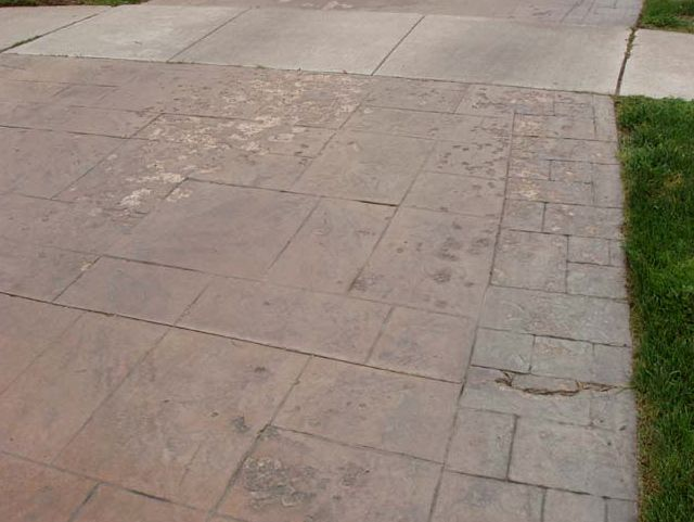 Stamped concrete in michigan is michigan stamped for What happens to concrete if it freezes